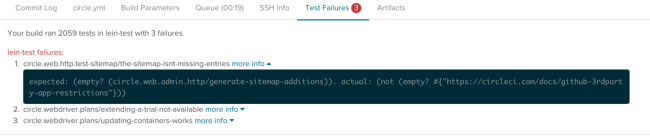Test Failure Reporting