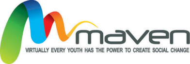Maven のロゴ、 virtually every youth has the power to create social change