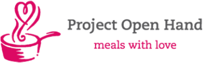 Project Open Hand logo, meals with love